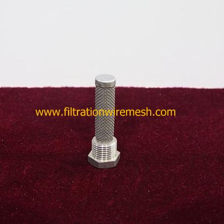Wire Mesh Filter With Thread